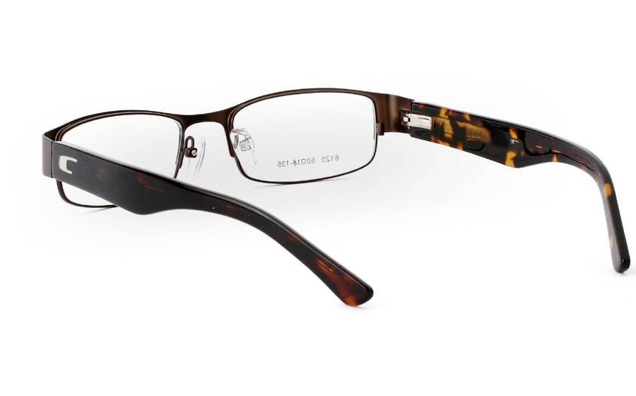6125 Stainless Steel Full Rim Mens Optical Glasses
