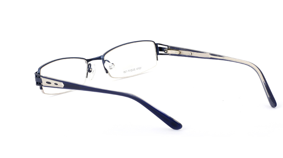 Vista First 1074 Stainless Steel/ZYL Half Rim Mens Optical Glasses