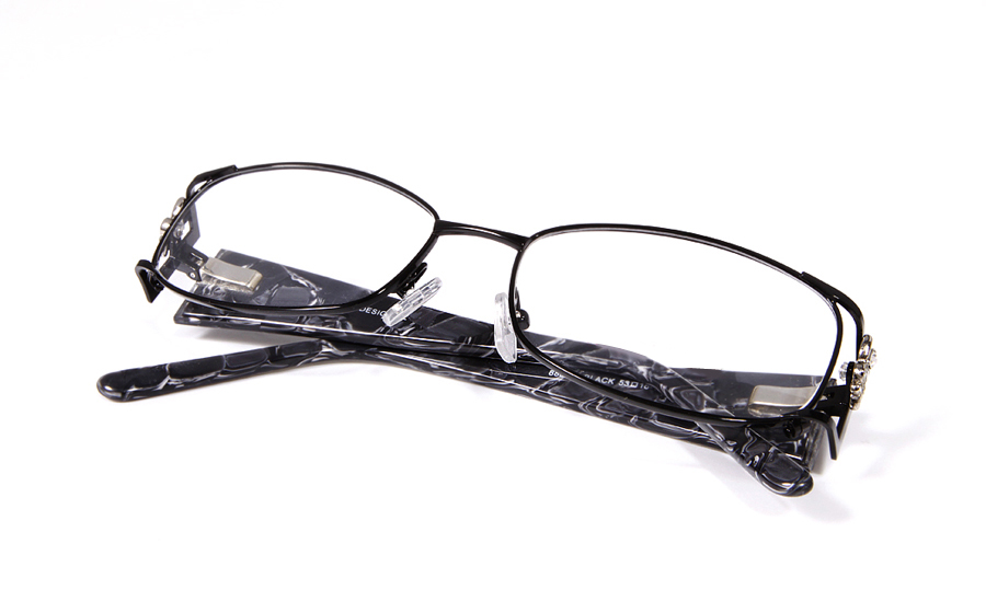 Vista First 8802 Stainless Steel/ZYL Full Rim Womens Optical Glasses