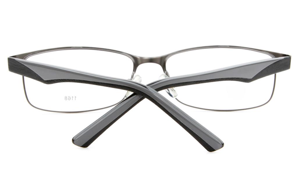 E1168 Stainless Steel/ZYL Mens&Womens Full Rim Square Optical Glasses