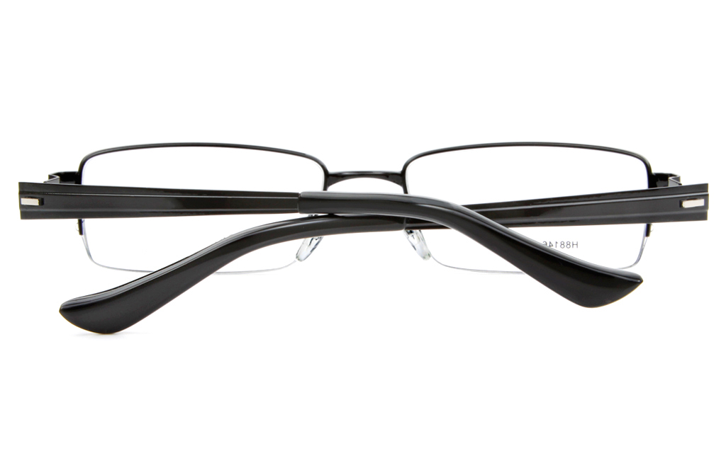 H88146 Stainless Steel Mens Full Rim Square Optical Glasses