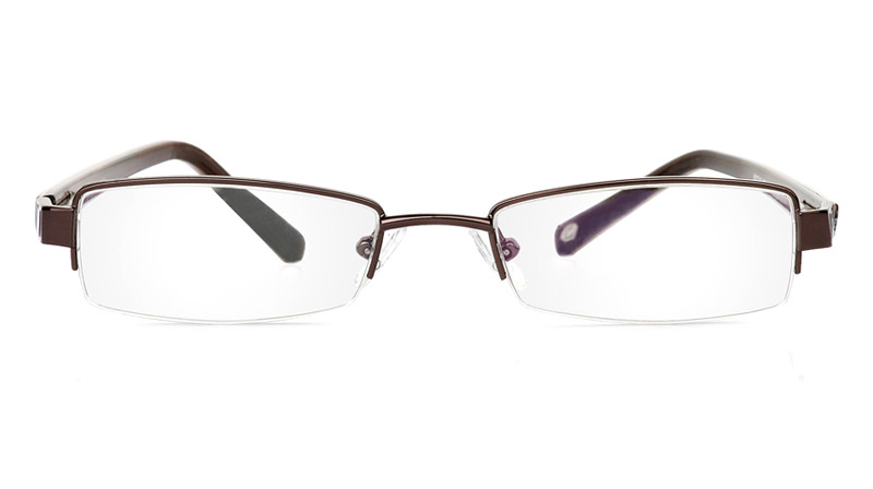 Vista First 1041 Stainless Steel/ZYL Half Rim Mens Optical Glasses