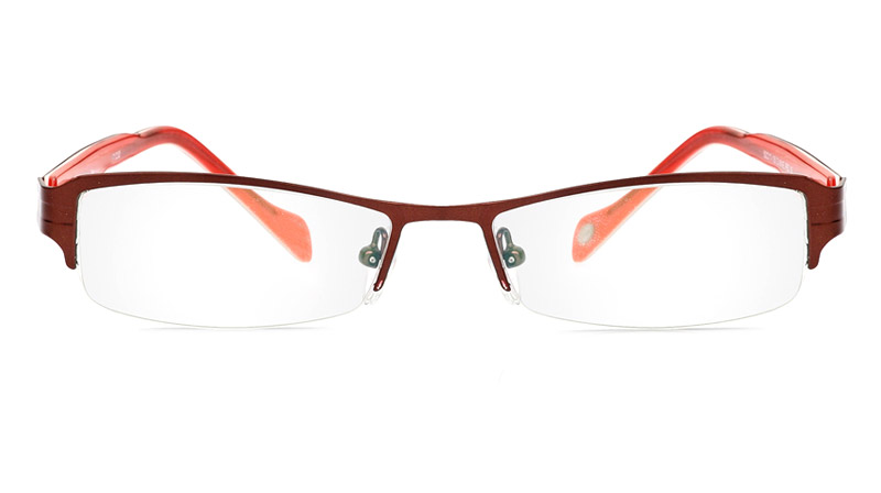 Vista First 1054 Stainless Steel/ZYL Half Rim Mens Optical Glasses