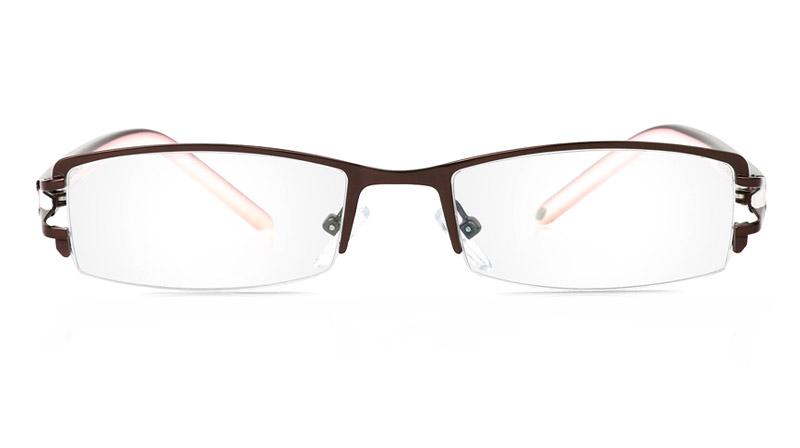 Vista First 1062 Stainless Steel/ZYL Mens&Womens Half Rim Optical Glasses