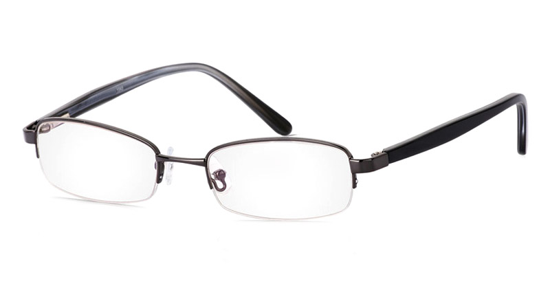 Vista First 1043 Stainless Steel/ZYL Mens&Womens Half Rim Optical Glasses