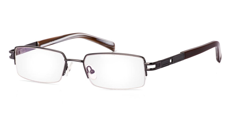Vista First 1033 Stainless Steel/ZYL Mens&Womens Full Rim Optical Glasses