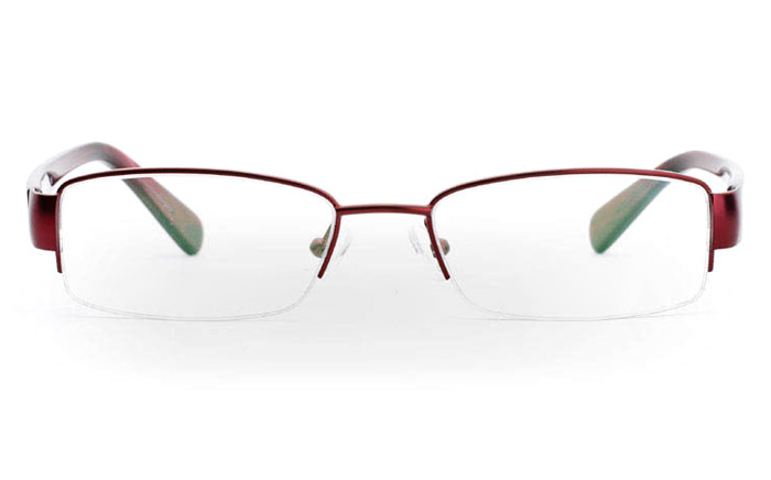 6113 Stainless Steel Half Rim Womens Optical Glasses