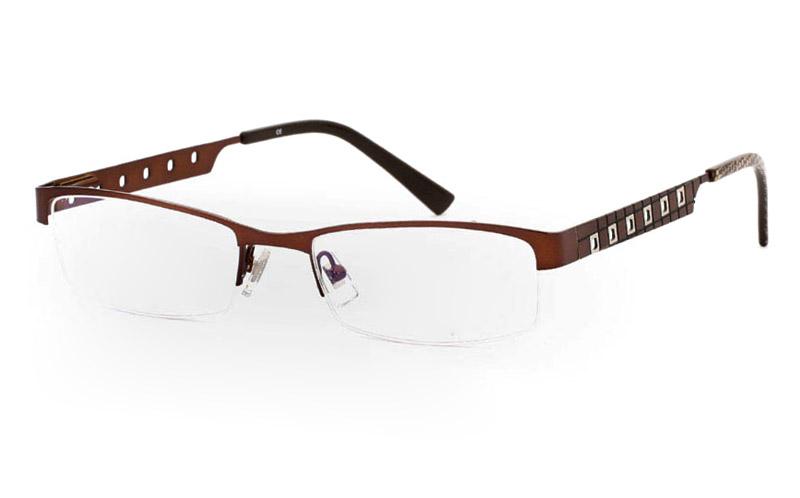 1381 Stainless Steel Mens&Womens Half Rim Optical Glasses