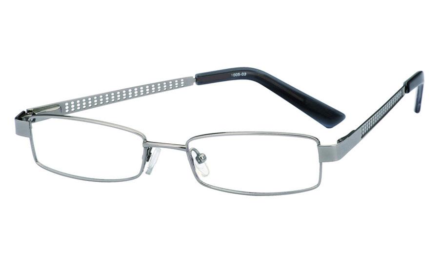 Poesia 1005 Stainless Steel/ZYL Full Rim Mens Optical Glasses