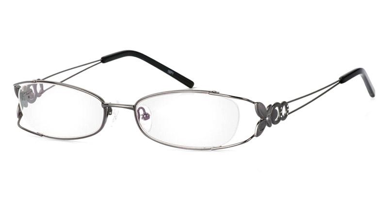 Vista First 1071 Stainless Steel/ZYL Half Rim Womens Optical Glasses