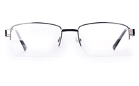 Poesia 6047 Stainless Steel Mens Semi-rimless Optical Glasses