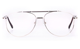 Poesia D12 Stainless Steel Mens Full Rim Optical Glasses for Fashion,Classic,Nose Pads Bifocals