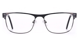 Poesia 6649 Stainless Steel Mens Full Rim Optical Glasses for Fashion,Classic,Nose Pads Bifocals