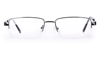 Poesia 6651 Stainless Steel Mens Semi-rimless Optical Glasses