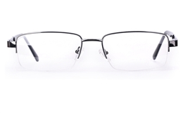 Poesia 6651 Stainless Steel Mens Semi-rimless Optical Glasses for Fashion,Classic,Nose Pads Bifocals