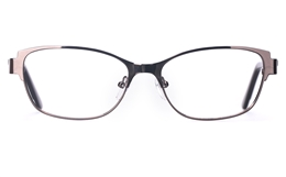 Poesia 6043 Stainless Steel Womens Full Rim Optical Glasses for Fashion,Classic,Nose Pads Bifocals
