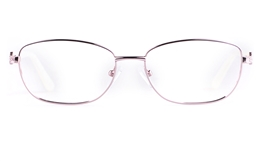Vista First 8823 Stainless steel/ZYL Womens Full Rim Optical Glasses for Fashion,Classic,Nose Pads Bifocals