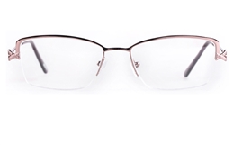 Poesia 6653 Stainless steel/PC Womens Semi-rimless Optical Glasses