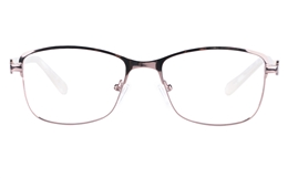 Vista First 8820 Stainless steel/ZYL Womens Full Rim Optical Glasses for Fashion,Classic,Nose Pads Bifocals