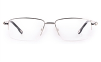Vista First 8902 Stainless steel/ZYL Mens Semi-rimless Optical Glasses