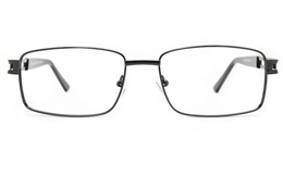 Poesia 6070 Stainless Steel Mens Full Rim Optical Glasses for Fashion,Classic,Nose Pads Bifocals