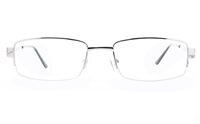 Poesia 6066 Stainless Steel Womens Semi-rimless Optical Glasses