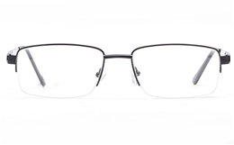 Poesia 6061 Stainless Steel Mens Semi-rimless Optical Glasses for Fashion,Classic,Nose Pads Bifocals