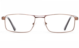 Poesia 6662 Stainless Steel Mens Full Rim Optical Glasses for Fashion,Classic,Nose Pads Bifocals