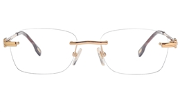 Vista First 8950 Stainless steel/ZYL Mens Rimless Optical Glasses for Fashion,Classic,Nose Pads Bifocals