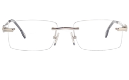 Vista First 8949 Stainless steel/ZYL Mens Rimless Optical Glasses for Fashion,Classic,Nose Pads Bifocals