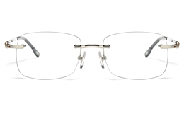 Vista First 8955 Stainless steel/ZYL Mens Rimless Optical Glasses for Fashion,Classic,Nose Pads Bifocals