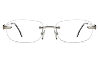 Vista First 8956 Stainless steel/ZYL Mens Rimless Optical Glasses