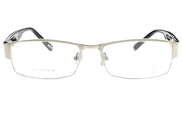 Vista First 1617 Stainless Steel Full Rim Mens Optical Glasses for Fashion,Classic,Nose Pads Bifocals
