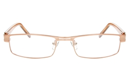 P8496 Stainless Steel/ZYL Mens Womens Semi-rimless Square Optical Glasses for Fashion,Classic,Nose Pads Bifocals