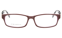 JF1061 Acetate(ZYL) Womens Full Rim Square Optical Glasses for Party,Sport,Nose Pads Bifocals