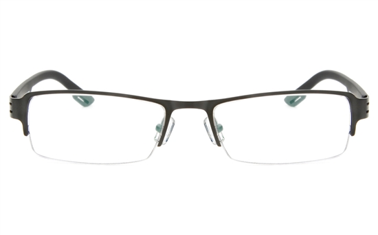 Z6627 Stainless Steel/TR90 Mens&Womens Semi-rimless Square Optical Glasses