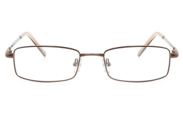 Vista First 2117 Titanium Memory Mens Full Rim Square Optical Glasses for Fashion,Classic,Nose Pads Bifocals