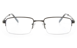 Vista First 2114 Titanium Memory Mens Semi-rimless Square Optical Glasses for Fashion,Classic,Nose Pads Bifocals