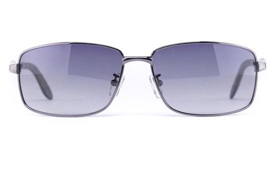 Vista Sport P1325 Stainless Steel Mens Square Full Rim Sunglasses