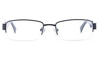 Vista Sport 9102 Stainless Steel Mens Square Semi-rimless Optical Glasses