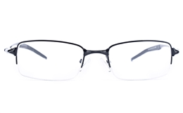 Vista First 9106 Stainless Steel Mens Square Semi-rimless Optical Glasses for Fashion,Classic,Party,Nose Pads Bifocals