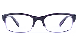 Vista First 0901 Stainless Steel/ZYL  Mens Womens Oval Semi-rimless Optical Glasses for Fashion,Classic Bifocals
