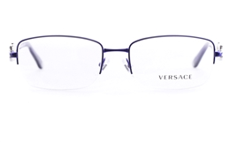 Versace VE1199 Stainless steel Womens Square Full Rim Optical Glasses for Fashion,Party,Nose Pads Bifocals