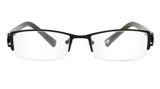 Vista First 1067 Stainless Steel/ZYL Half Rim Mens Optical Glasses