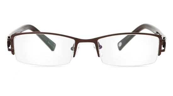 Vista First 1067 Stainless Steel/ZYL Half Rim Mens Optical Glasses