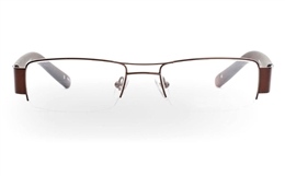 VPR629 Stainless Steel/ZYL Mens Womens Half Rim Optical Glasses for Fashion,Party,Sport,Nose Pads Bifocals