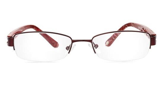 Vista First 1804 Stainless Steel/ZYL Half Rim Womens Optical Glasses