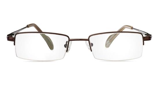 Poesia 1036 Stainless Steel/ZYL Mens&Womens Half Rim Optical Glasses