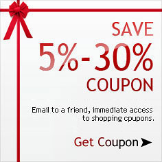 Email to a friend, immediate access to shopping coupons. Save 5%-10% Coupon