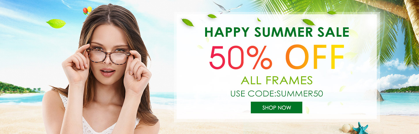 happy summer sale all frames 50% off